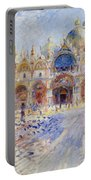 The Piazza San Marco Portable Battery Charger by Pierre Auguste Renoir