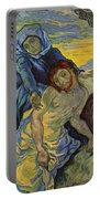 The Pieta After Delacroix 1889 Portable Battery Charger by Vincent Van Gogh