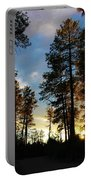 The Pines At Sunset Portable Battery Charger
