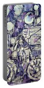 the PINK FLOYD in concert - drawing portrait Portable Battery Charger