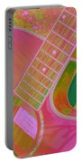 My Pink Guitar Pop Art Portable Battery Charger
