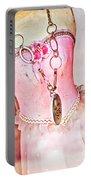 The Pink Tutu Dress With The Fleur De Lis Portable Battery Charger