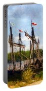 The Pinta At Sunrise Portable Battery Charger