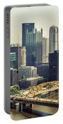 The Pittsburgh Skyline Portable Battery Charger by Lisa Russo