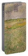 The Plain At Auvers Portable Battery Charger by Vincent Van Gogh