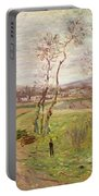 The Plain At Gennevilliers Portable Battery Charger by Claude Monet
