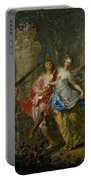 The Pleasures Of The Seasons     Spring Portable Battery Charger by Johann Georg Platzer