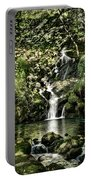 The Pond And The Forest Waterfall Portable Battery Charger