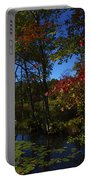 The Pond In Autumn Portable Battery Charger