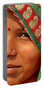 The Pride Of Indian Womenhood Portable Battery Charger by Kim Bemis