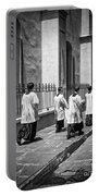 The Procession - Black And White Portable Battery Charger