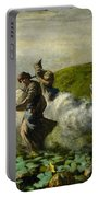 The Pumpkin Harvest Portable Battery Charger by Giovanni Segantini
