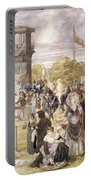 The Races At Longchamp In 1874 Portable Battery Charger