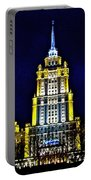 The Raddison-stalin's Wedding Cake Architecture-in Moscow-russia Portable Battery Charger