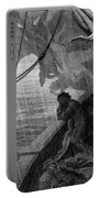 The Rain Begins To Fall Portable Battery Charger by Gustave Dore