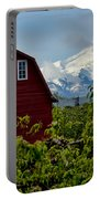 The Red Barn And Mt. Hood Portable Battery Charger