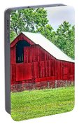 The Red Barn - Featured In Old Buildings And Ruins Group Portable Battery Charger