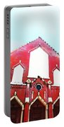 The Red Church By Sharon Cummings Portable Battery Charger by Sharon Cummings