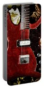 The Red Guitar Blues Portable Battery Charger by Bill Cannon