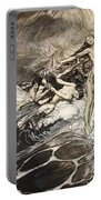 The Rhinemaidens Obtain Possession Of The Ring And Bear It Off In Triumph Portable Battery Charger by Arthur Rackham