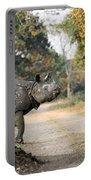 The Rhino At Kaziranga Portable Battery Charger