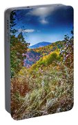 The Road To Cataloochee On A Frosty Fall Morning Portable Battery Charger