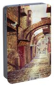The Road To The Cross  Jerusalem Portable Battery Charger
