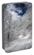 The Road To Winter Wonderland Portable Battery Charger