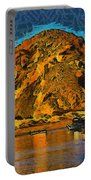 The Rock At Morro Bay Abstract Portable Battery Charger