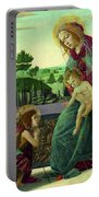 The Rockefeller Madonna. Madonna And Child With Young Saint John The Baptist Portable Battery Charger