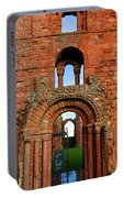 The Romanesque Doorway In The Monastery Portable Battery Charger