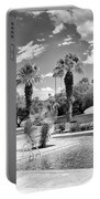 The Sandpiper Pool Bw Palm Desert Portable Battery Charger by William Dey