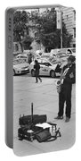 The Saxman In Black And White Portable Battery Charger