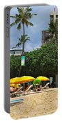 The Scene At Waikiki Beach Portable Battery Charger