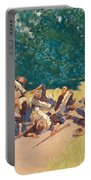 The Scream Of Shrapnel At San Juan Hill Portable Battery Charger
