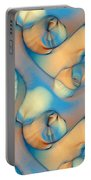 The Sea And The Sand Abstract Portable Battery Charger
