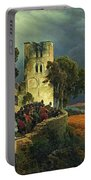 The Siege. Defense Of A Church Courtyard During The Thirty Years' War Portable Battery Charger