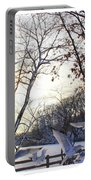 The  Birds Of Winter Portable Battery Charger