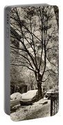 The Snow Tree - Sepia Antique Look Portable Battery Charger