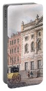 The South Front Of Ironmongers Hall, From R. Ackermanns Repository Of Arts 1811 Colour Litho Portable Battery Charger
