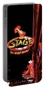 The Stage On Broadway In Nashville Portable Battery Charger by Dan Sproul