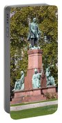 The Statue Of Istvan Szechenyi In Budapest Portable Battery Charger