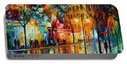The Tears Of The Fall - Palette Knife Oil Painting On Canvas By Leonid Afremov Portable Battery Charger