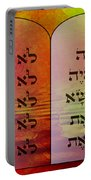 The Ten Commandments - Featured In Comfortable Art Group Portable Battery Charger