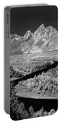 309217-the Teton Range From Snake River Overlook Portable Battery Charger