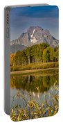 The Tetons And Fall Colors Portable Battery Charger