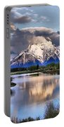 The Tetons From Oxbow Bend Portable Battery Charger