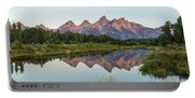 The Tetons Reflected On Schwabachers Landing - Grand Teton National Park Wyoming Portable Battery Charger