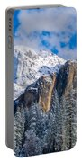 Cathederal Rocks And Bridalveil Portable Battery Charger
