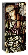 The Tibertine Sibyl In Stained Glass Portable Battery Charger
